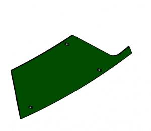 Blacha rury wyrzutu  lewa dolna IT05006 AZ48903 John Deere