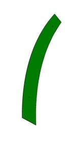Blacha ścieralna prawa  John Deere  IT05011 Z62093