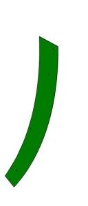 Blacha ścieralna lewa John Deere  IT05010   Z62092