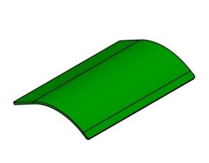 Blacha wyrzutu wentylatora John Deere  IT05008  Z64776